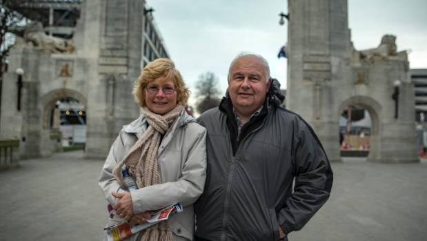 Christchurch visitors Sharon and Robert McIntyre are impressed with the way the city is taking shape from the rebuild.