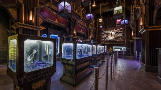 Inside Guardians of the Galaxy Mission: Breakout looks more like a film set than a Theme Park attraction.