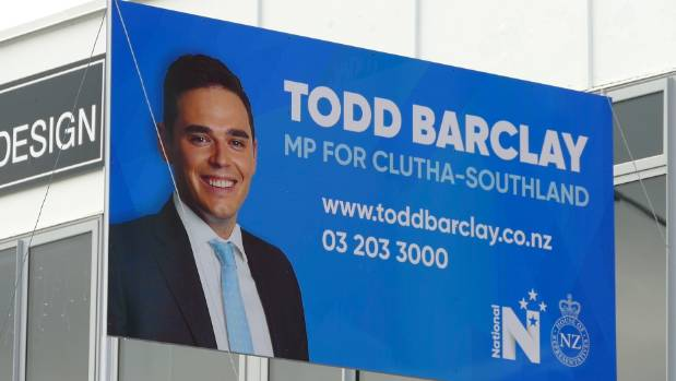 Todd Barclay has been conspicuous by his absence.