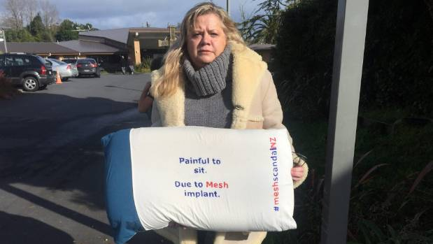 Surgical mesh victim Carmel Berry wanted to share her story with Jonathan Coleman in hope it would not happen to anyone else.