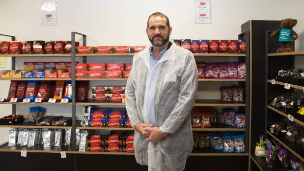 Jeff Andersen, general manager of Waikato Valley Chocolates, at the new factory store.