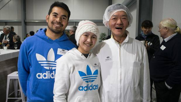 From right, Richard Eng, Mararoth Rors and Chhayya Yat. Eng, who has worked for Waikato Valley Chocolates for over 20 ...
