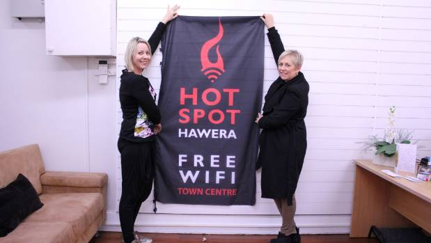 Nikki Watson and Margie Jones are looking forward to the Hawera Hot Spot launch on July 22 at 10am.