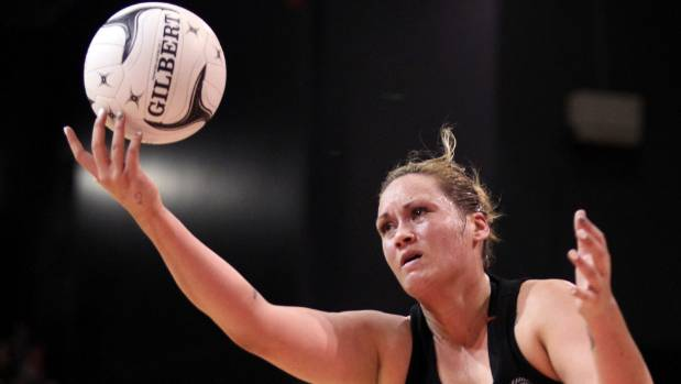 Cathrine Tuivaiti, in happier times, playing for the Silver Ferns in 2014.