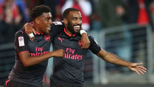 Alexandre Lacazette scored in the 83rd minute against Sydney FC, just 15 minutes after entering the match, his debut for ...