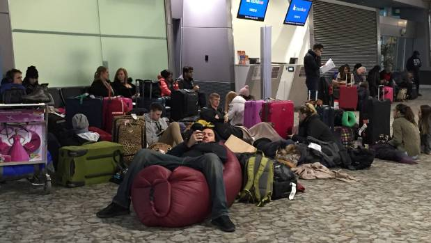 The long waits began at airports around the country, including Wellington, early on Thursday.
