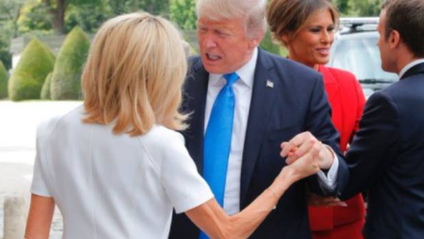 Trump: French first lady is in 'such good shape'