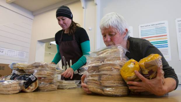 Kaibosh volunteers Ondine Brown, left and Judy Pickering sort donated food, getting it ready for Wellington charities to ...