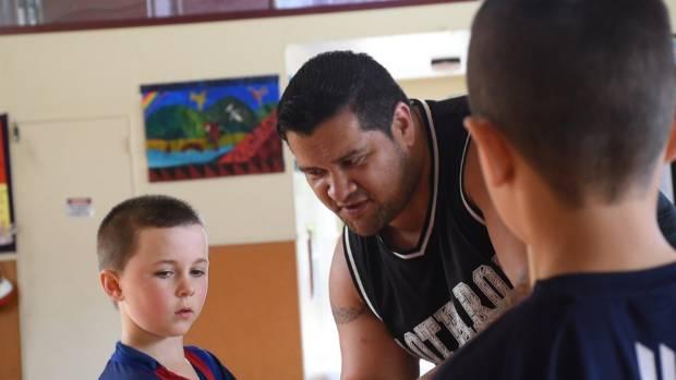 Whaitiri Poutawa says teaching mau rakau allows him to calm his students down and talk to them about self-control.