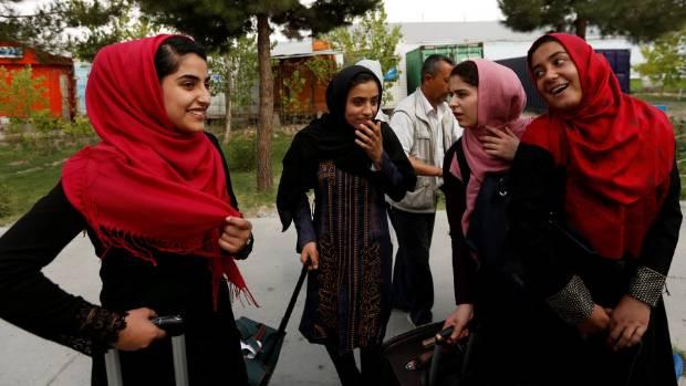 Afghan girls to attend U.S. robotics clash after visa U-turn