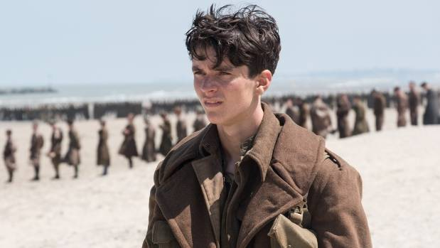 Newcomer Fionn Whitehead is joined by more than 6000 extras for Dunkirk.