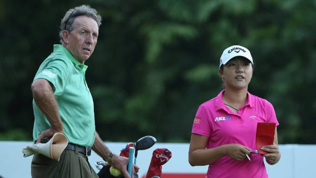 Lydia Ko with her former coach David Leadbetter last year.