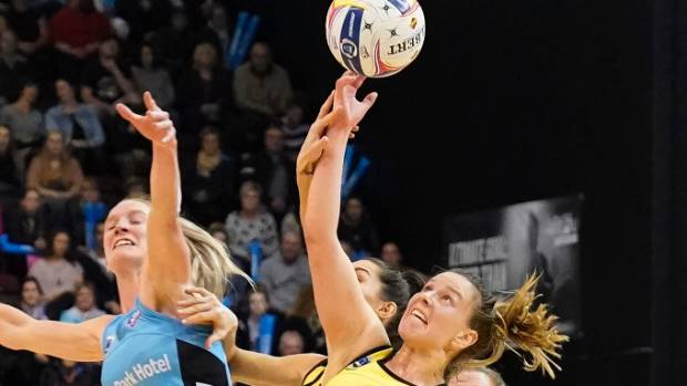 Wing defence Claire Kersten, right, was among those Pulse players to enhance their reputation in 2017.