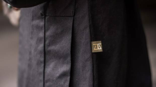 Detail on a Central Oil jacket.