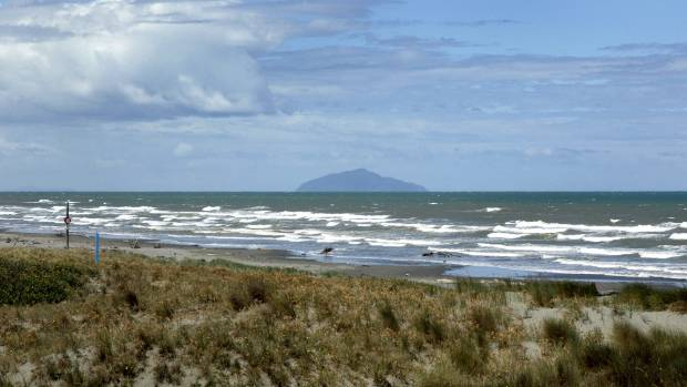 The sand dunes at Waitarere Beach have now covered the ship's remains.