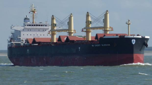 The vessel Cherry Blossom en route for New Zealand before it was detained in South Africa.