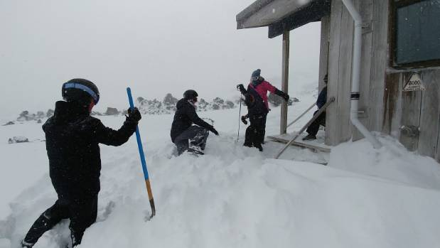 Dealing with the conditions on Mt Ruapehu.