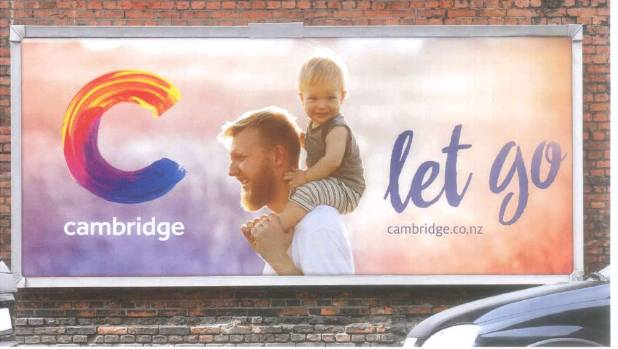 An example of a brand advertisement focused on communicating a Cambridge experience, using the letter C.