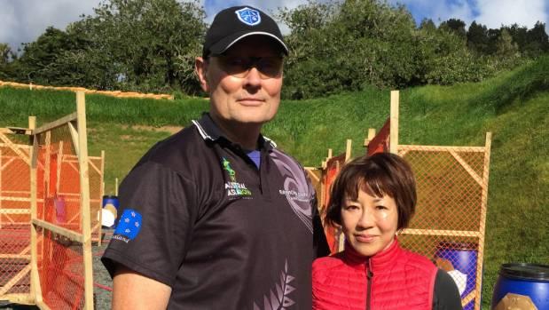 Raymond O'Brien and Victoria Pilcher hope to establish the biggest gun club in Australiasia in the Makarau valley.