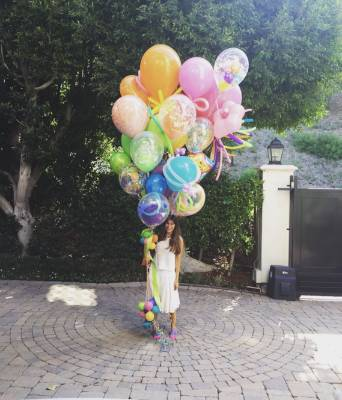 SOFIA VERGARA: Well damn, happy birthday mate. That's probably the biggest bunch of balloons I've ever seen.