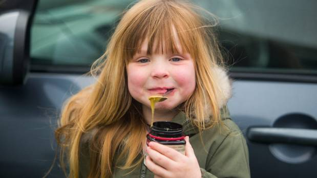 """Ruby was """"in and out"""" of the doctors since she was born until her mum began feeding her honey."""