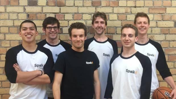 The Spalk team from left to right, Alex Porte, Ben Reynolds, Cameron Ekblad, Dion Bramley, Jacob Meyer, Michael Prendergast.