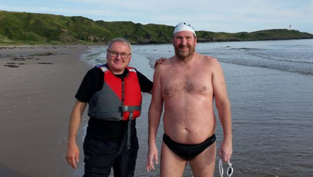 Christchurch athlete Simon Olliver, 52, completed his toughest swim yet across the North Channel  this month.