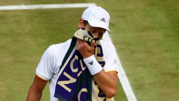 After losing first and second-set tiebreakers Tomas Berdych had no answer to Roger Federer