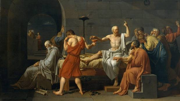 The Death of Socrates, by Jacques Louis David, transcends time and place because its themes compel us to consider human ...