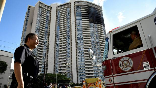 At least 3 dead as fire rages through Honolulu high rise