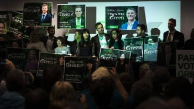 The Green Party annual conference drew about 250 people on day one. The party has unveiled candidate billboards that ...