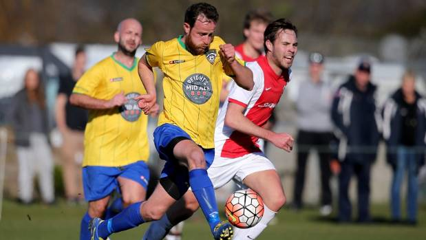 Gary Ogilvie, who was one of his side's best, on the run for Cashmere Technical against Caversham in the Chatham Cup ...
