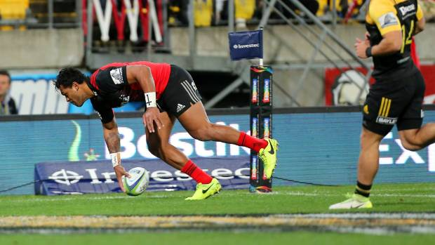 Crusaders wing Seta Tamanivalu had scored two tries within 14 minutes of kickoff against the Hurricanes.