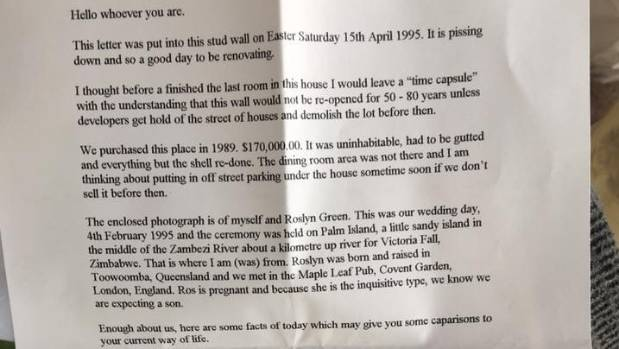 A time capsule from the mid-90s has been discovered in an Australia home.