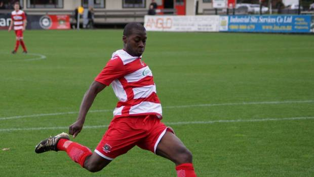 Eric Seekie impressed at fullback for Melville United in their 1-0 Chatham Cup loss to Onehunga Sports. (FILE PHOTO)