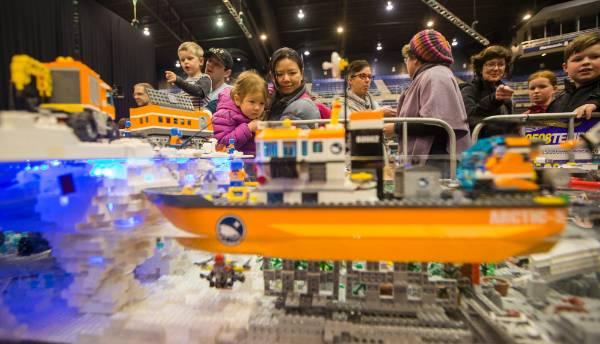 A water display featuring floating boats, designed and built by Christchurch woman Treena Aldridge, created a lot of ...