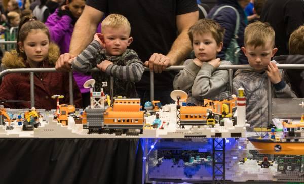 Children were mesmerised by the Lego displays.