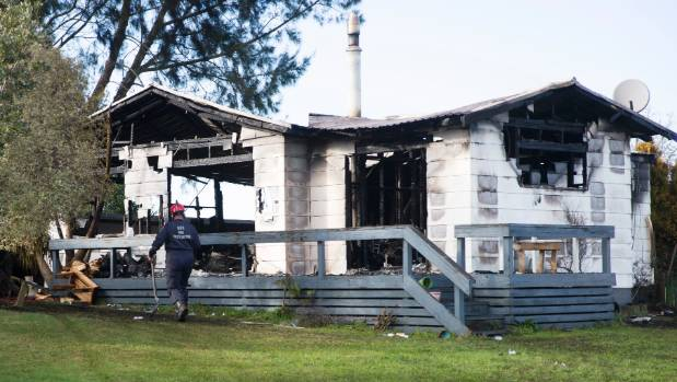 The Te Aroha home was fully ablaze when the fire service arrived on the scene.
