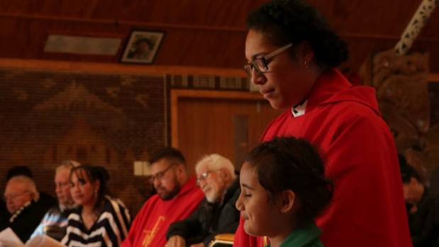 Family were present for the ordination of two Taranaki Reverends on Saturday. Reverend Vincent Nuku, left,  with his ...