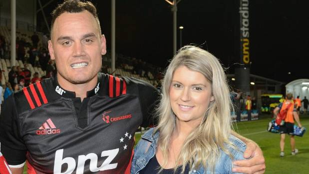 Israel Dagg and his wife Daisy earlier this year before the birth of their son, Arlo.