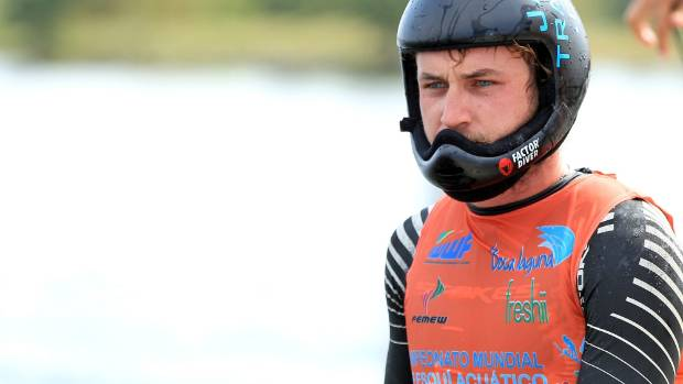 A snapped achilles hasn't slowed professional waterskier Alex King, who spends his days lakeside perfecting jumps from ...