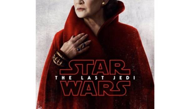 Star Wars: The Last Jedi honours Carrie Fisher in a new poster for the film due for release in December.
