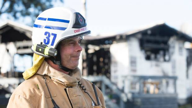 Te Aroha Volunteer Fire Brigade chief fire officer, Roger Clark, says six fire trucks helped battle the blaze.