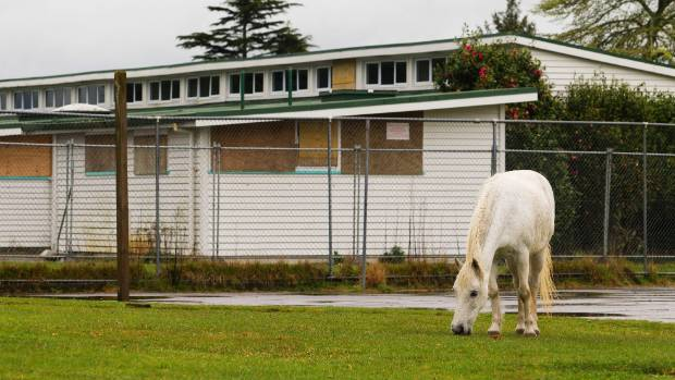 Tokoroa East School in Tokoroa is fenced off from the public and has suffered repeated vandalism.