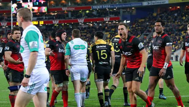 The Crusaders weren't always that impressed with the officiating at Westpac Stadium.