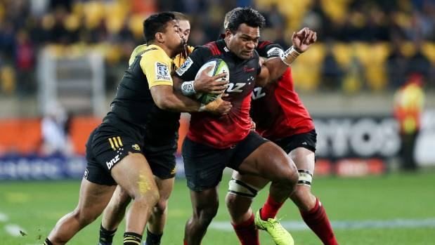 Right wing Seta Tamanivalu scored two early tries to help the Crusaders jump out to a 12-0 lead over the Hurricanes on ...