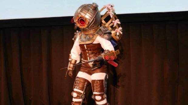 One of Abby Jameson's creations on stage at Wellington's Armageddon Expo.