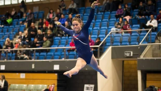 Gymnastics Nelson's Teona Stephens performs her floor routine.