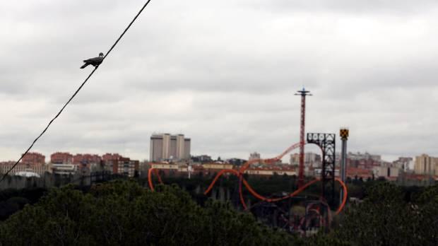 Rides at the Parque de Atracciones amusement park, where the accident happened (File picture).