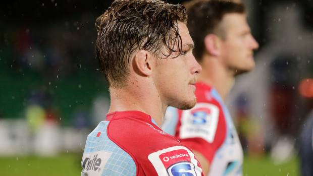 Michael Hooper, the Waratahs captain, looks on after losing to the Force.